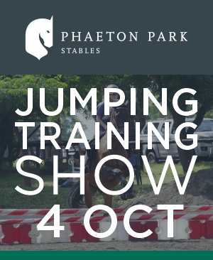 Training jumping show Kyalami